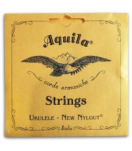 Foto da capa da embalagem da Corda Individual Aquila 16-U Bordão Sol Grave para Ukulele Tenor