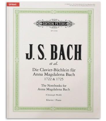 Foto da capa do Livro Edition Peters EP4546 Bloco Notas Anna Magdalena Bach