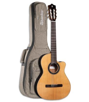 Foto da Guitarra Ac炭stica Alhambra modelo CS LR CW E1 EQ Crossover com Saco