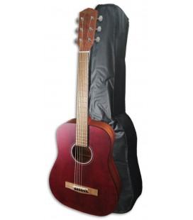 Guitarra Folk Fender FA-15 3/4 Vermelha com Saco