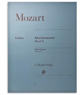 Foto da capa do livro Mozart Piano Sonatas Vol 2