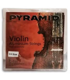 Jogo de Cordas Pyramid 100100 para Violino Alum鱈nio 3/4