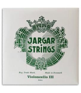 Corda Individual Jargar 3捉 Sol Violoncelo Verde