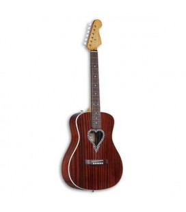 Guitarra Acústica Fender Alkaline Trio Malibu Mogno