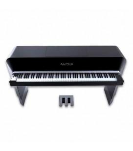 Piano Digital Alpha 88 Teclas Alpha Studio Preto Cinzento