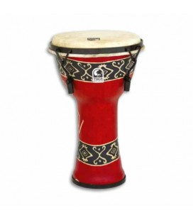 Djembe Toca Percussion SFDMX 9RP Freestyle Afina巽達o Mec但nica Bali Red