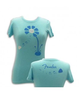 T shirt Fender Azul Pick Petal Senhora Size XL