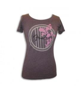 T shirt Fender Bordeaux Soundhole Senhora Size XL