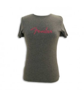 T shirt Fender Cinza com Logo Senhora Size L