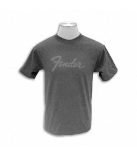 T shirt Fender Cinza com Logo Size M