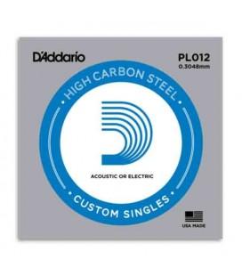 Corda Daddário PL012 Mi agudo para Guitarra Elétrica ou Acústica Aço