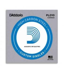 Corda DAddario PL010 para Guitarra Elétrica ou Acústica Aço