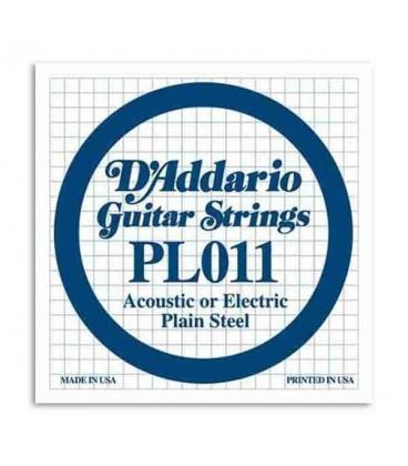 Corda Individual DAddario 011 para Guitarra El辿trica ou Ac炭stica A巽o
