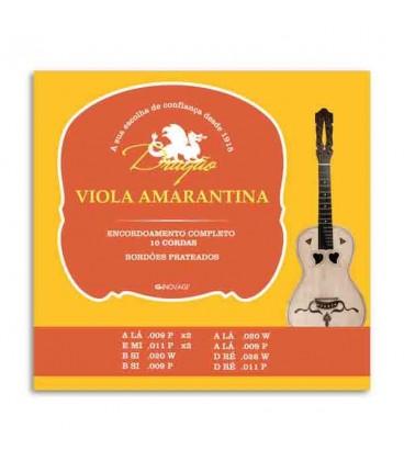 Jogo de Cordas Drag達o 013 para Viola Amarantina 10 Cordas