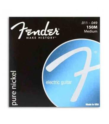 Jogo de Cordas Fender 150M para Guitarra El辿trica Pure Nickel 011