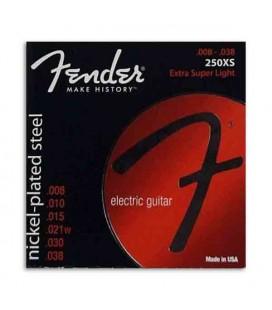 Jogo de Cordas Fender 250XS para Guitarra Eletrica Nickel Plated Steel 008 038