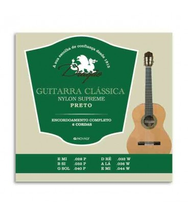 Jogo de Cordas Drag達o 027 para Guitarra Cl叩ssica Supreme Nylon Preto