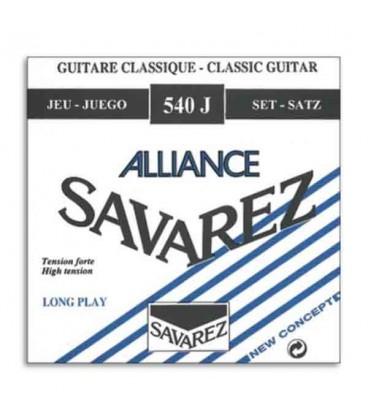 Jogo de Cordas Savarez 540 J para Guitarra Cl叩ssica Nylon Alta Tens達o