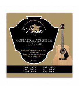 Jogo de Cordas Dragão 023 para Guitarra Clássica Superior Aço Seda Botão