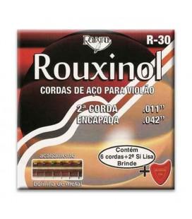 Jogo de Cordas Rouxinol R30 com Bolinha para Guitarra Clássica Si Coberto