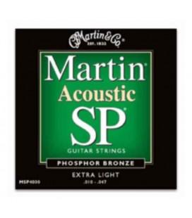 Jogo Cordas Martin MSP4000 para Guitarra Folk Phoaphor Bronze 010