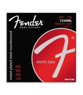 Jogo de Cordas Fender 7250ML para Baixo 45 100