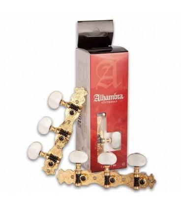 Par de Carrilh探es Alhambra 9487 para Guitarra Cl叩ssica Dourado N2