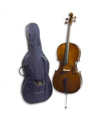 Foto do violoncelo Stentor Student I 4/4 com o saco