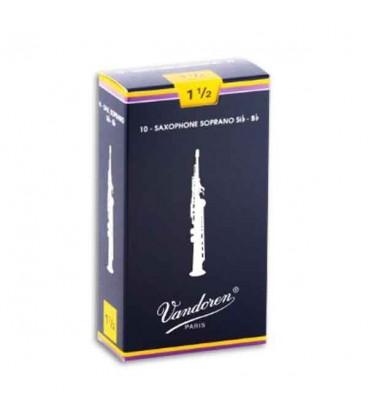 Palheta Vandoren SR2015 para Saxofone Soprano n尊 1 1/2
