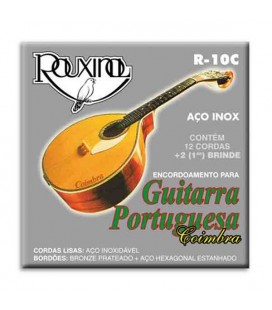 Jogo de Cordas Rouxinol para Guitarra Portuguesa Coimbra Aço Inox R10C