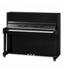 Piano Vertical Kawai ND 21 121cm Preto Polido 3 Pedais
