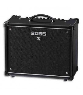 Foto a 3/4 do amplificador Boss Katana KTN50