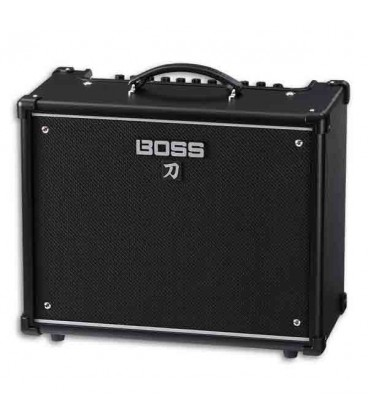 Foto a 3/4 do amplificador Boss Katana KTN50