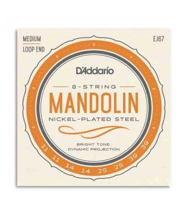 Jogo de Cordas DAddario EJ67 para Bandolim
