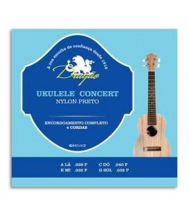 Jogo de Cordas Dragão UK065 para Ukulele Concerto