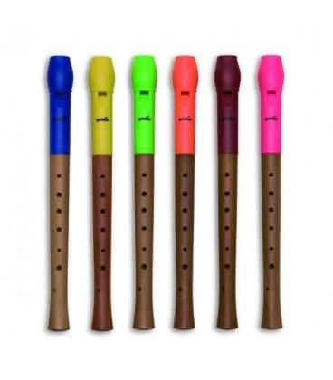 Foto de flautas de bisel Goldon 42000 com cabe巽as em v叩rias cores