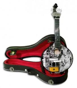 Miniatura de Guitarra Portuguesa CNM Elétrico 547 com Estojo