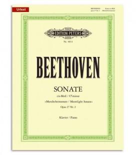 Livro Edition Peters EP4014 Beethoven Sonata em Dó Sostenido Menor Moonlight OP27/2
