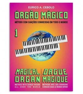 Capa do método Órgão Mágico 1 de Eurico Cebolo