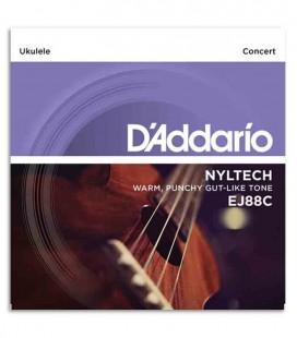 Jogo de Cordas Daddário EJ88C para Ukulele Concerto