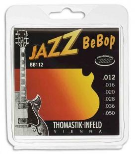 Jogo de Cordas Thomastik 012 BB 12 Bebop para Guitarra El辿trica Jazz