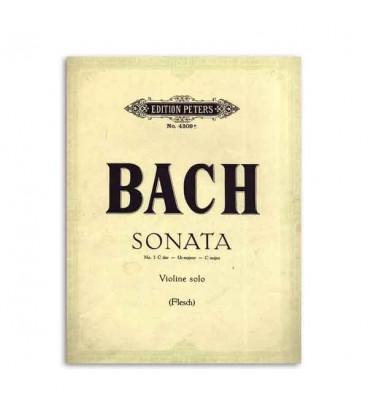 Bach Sonata n尊 3 C Major para Violino Edition Peters