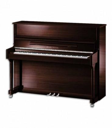 Piano Vertical Pearl River AEU118S PW Classic 118cm Nogueira Polido 3 Pedais