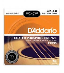 Jogo de Cordas DAddario EXP15 010 Phosphor Bronze para Guitarra Acústica