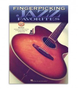 Livro Music Sales Fingerpicking Jazz 15 Songs HL00699844
