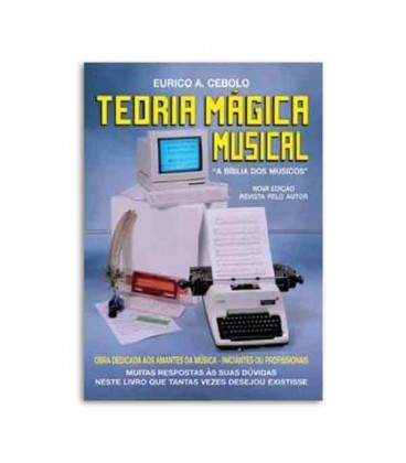 Capa do livro Teoria M叩gica Musical de Eurico Cebolo