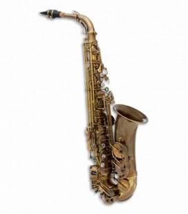Saxofone Alto John Packer JP045A Mi Bemol Dourado Antigo com Estojo