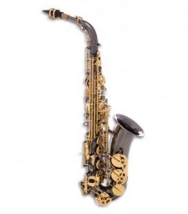Saxofone Alto John Packer JP045B Mi Bemol Preto Chaves Douradas com Estojo