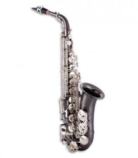 Saxofone Alto John Packer JP045BS Mi Bemol Preto Chaves Prateadas com Estojo