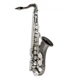 Saxofone Tenor John Packer JP042BS Si Bemol Preto com Chaves Prateadas e Estojo